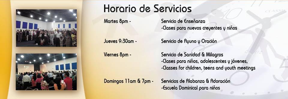 Church Official Portada Horario